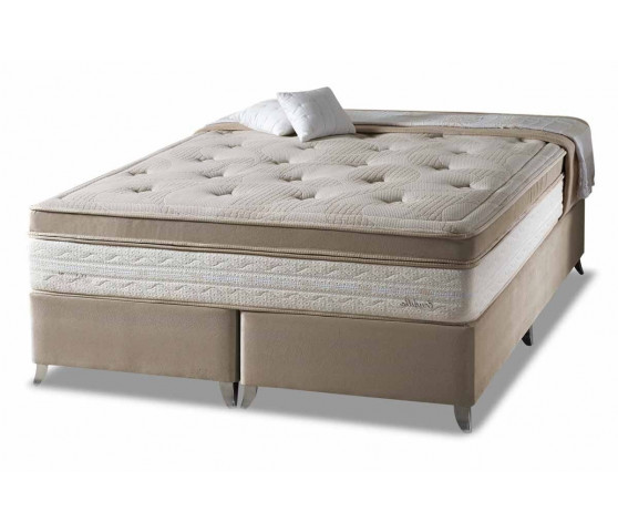 b3a8dc7fb Cama Box+Colchão Queen Size Eruditto One Side Pillow Herval 158x198x64