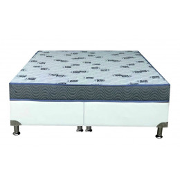 Cama Box+Colchão Queen Size Ortobom Light D45 Ortopillow158x198x40