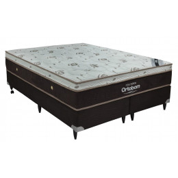 Cama Box+Colchão King Size Ortobom Sleep King 186x198x53
